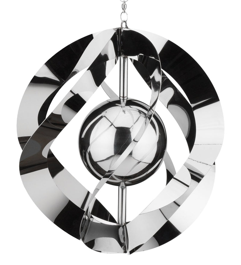 Vogue Hanging Wind Spinner - Silver - YourGardenStop