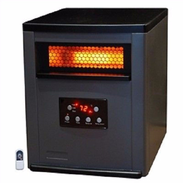 Infrared Space Heater w/Remote 5,200 BTU Heat 2-Tone Fireproof Cabinet - YourGardenStop