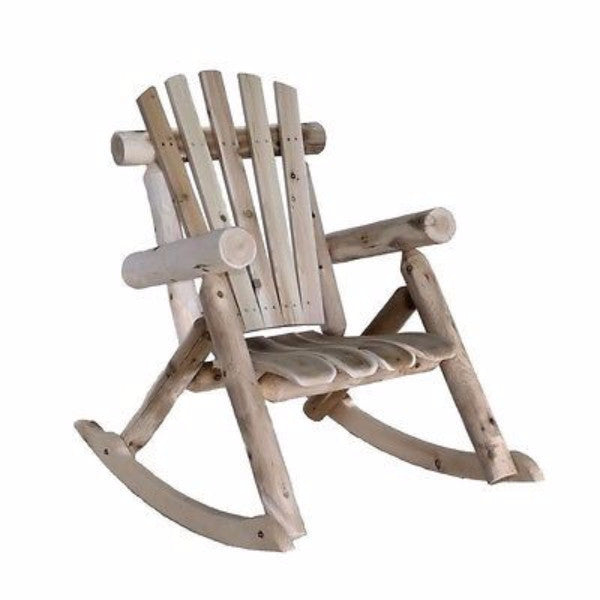 Adirondack Weather Resistant Cedar Log Rocking Chair - YourGardenStop
