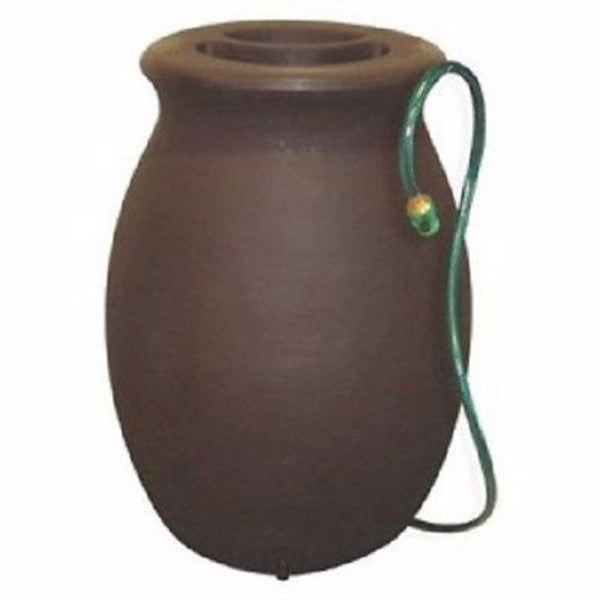 50 gallon dark brown color rain barrel and rain water storage - YourGardenStop