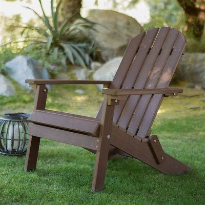 Adirondack Chair-Chocolate Brown Recycle Plastic Resin - YourGardenStop