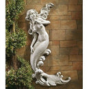 Outdoor Patio Wall Decor Mermaid Wall-Mounted Garden Statue - YourGardenStop