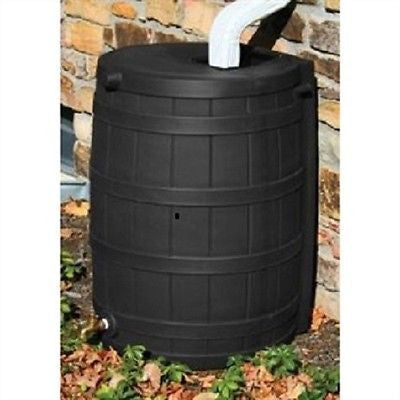 50 Gallon Rain Wizard Rain Barrel in Black - YourGardenStop