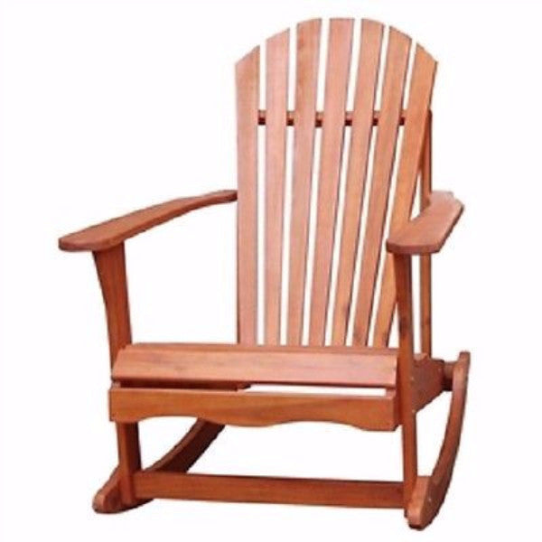 Solid Wood Adirondack Style Porch Rocker Rocking Chair - YourGardenStop