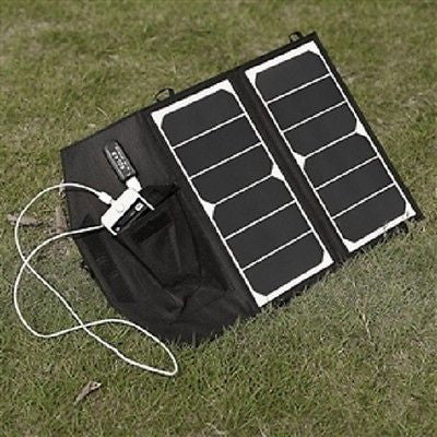 14-Watt Folding Solar Panel Charger for Smartphone - YourGardenStop