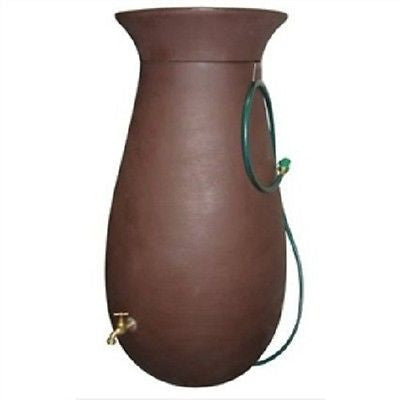 65-Gallon Dark Brown Rain Water Collection System - YourGardenStop