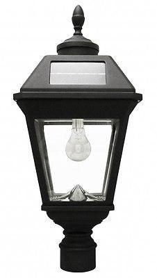 "Gama Sonic Imperial Solar Light w/GS Solar Light Bulb 3"" Fitter Mount (Eagle) - YourGardenStop"