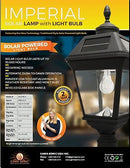 "Gama Sonic Imperial Solar Light w/GS Solar Light Bulb 3"" Fitter Mount (Acorn) - YourGardenStop"