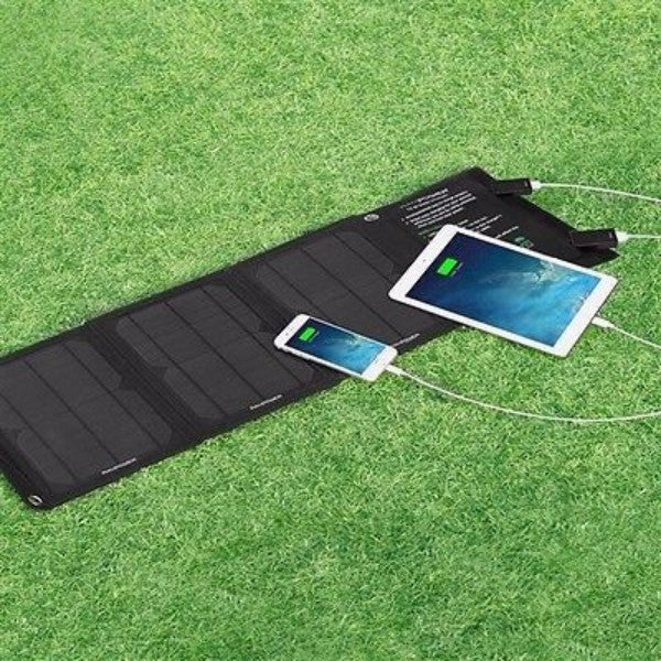 15-Watt Portable Folding Solar Panel Battery Charger - YourGardenStop