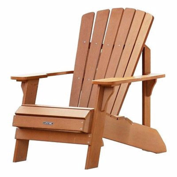 UV Protected Simulated Wood Adirondack Chair - YourGardenStop