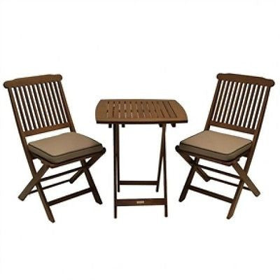 3-Piece Bistro Style Patio Furniture Set with Cushions - YourGardenStop