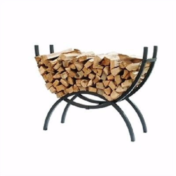 Crescent Tubular Steel Metal Firewood Log Storage Rack - YourGardenStop