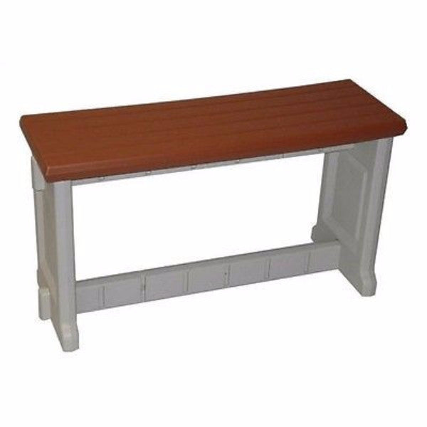5 Ft Backless Garden Bench in Weather Resistant Wood - YourGardenStop