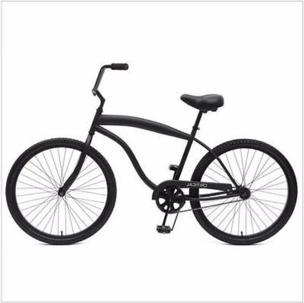 Men's 26-inch Matte Black 1-Speed Beach Cruiser Bike with Coaster Brakes - YourGardenStop
