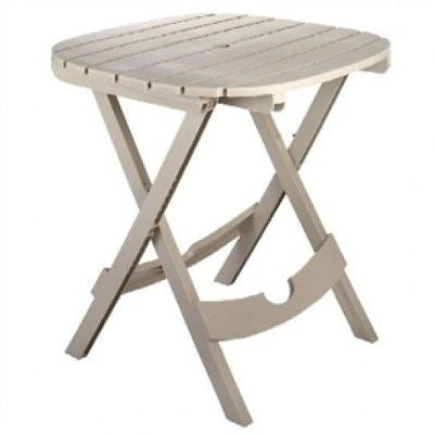 Folding Patio Table in Desert Clay Color Outdoor Resin Made in USA - YourGardenStop