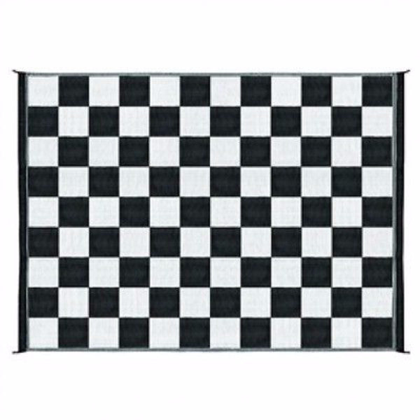 9' x 12' Reversible Outdoor Mat in Checkered Pattern - YourGardenStop