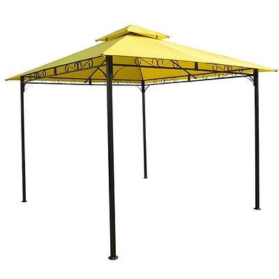 10-Ft x 10-Ft Yellow Canopy with Iron Frame - YourGardenStop