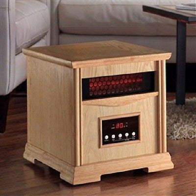 Light Oak Quartz Element 1,500 Watt Infrared Cabinet Space Heater - YourGardenStop
