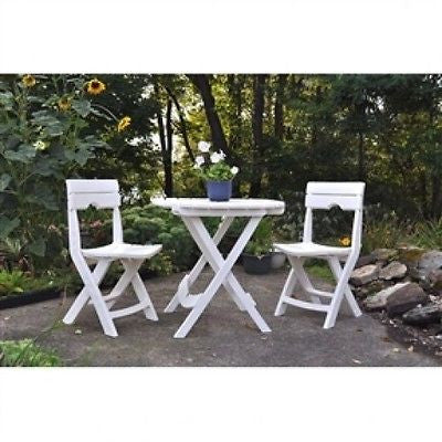 3-Piece Folding Outdoor Patio Furniture Bistro Set - YourGardenStop