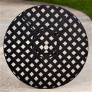 Black Wrought Iron Outdoor Bistro Patio Table w/Timeless Round Tabletop - YourGardenStop