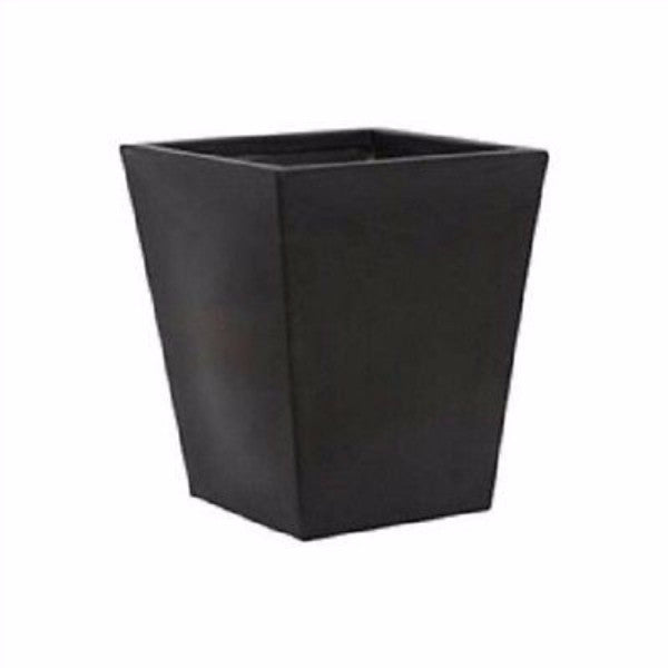 Modern Square Planter in Black Durable Lightweight Molded Plastic - YourGardenStop