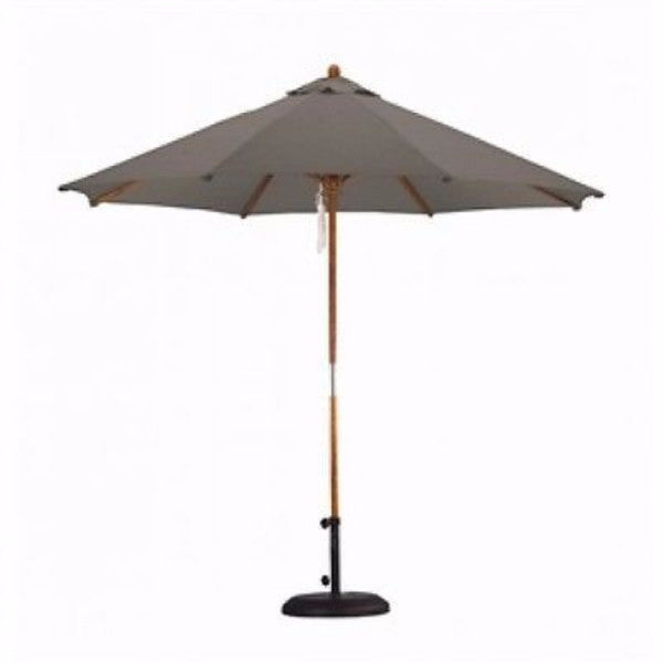 Taupe 9-FT Outdoor Market Umbrella w/ Taupe Canopy - YourGardenStop