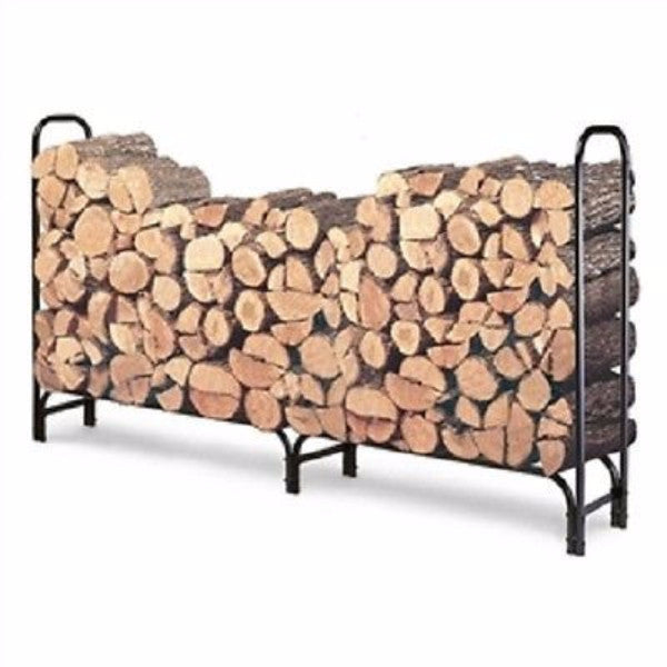 Outdoor 8ft Firewood Rack Wood Log Storage Sturdy Tubular Steel - YourGardenStop
