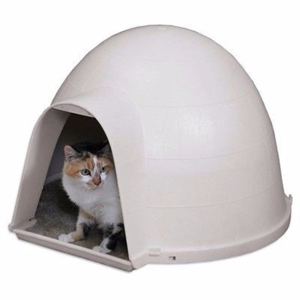 Durable Cat Condo House Igloo with Carpeted Floor - Made in USA - YourGardenStop