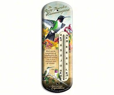 Tin Thermometers (Cardinal, Bluebird, or Hummingbird) - YourGardenStop