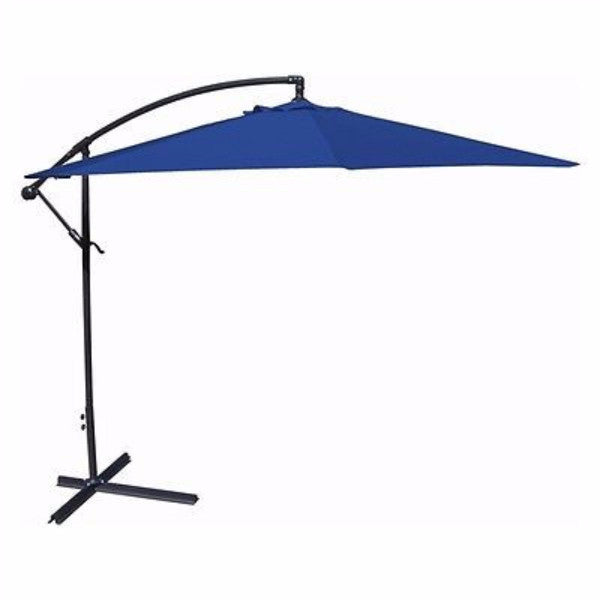 10-Ft Offset Cantilever Umbrella-Royal Blue Canopy - YourGardenStop