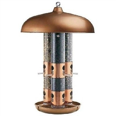 Copper Finish Triple Tube Bird Feeder - YourGardenStop