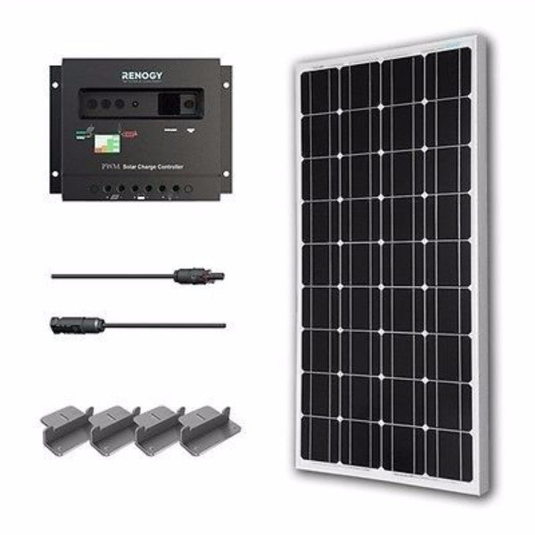 100-Watt Solar Panel with Charge Controller - YourGardenStop