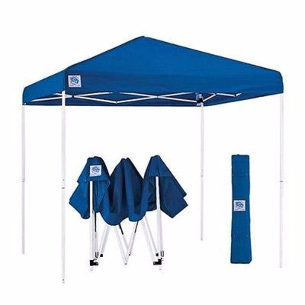 Blue 10 Ft x 10 Ft Easy Up Canopy with Roller Carry Bag - YourGardenStop