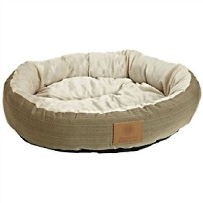 22-inch Round Pet Bed in Sage Green Small Dog or Cat - YourGardenStop