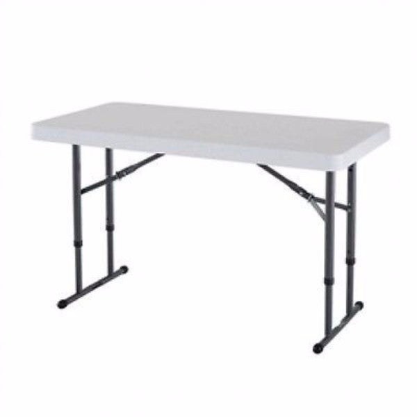 Adjustable Height 4-Foot Commercial Folding Table - YourGardenStop