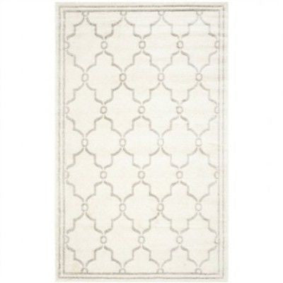 8'x10' Indoor/Outdoor Area Rug in Ivory and Light Gray - YourGardenStop