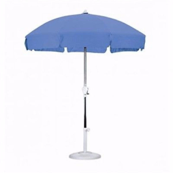 7.5 ft Umbrella with Push Button Tilt in Royal Blue - YourGardenStop