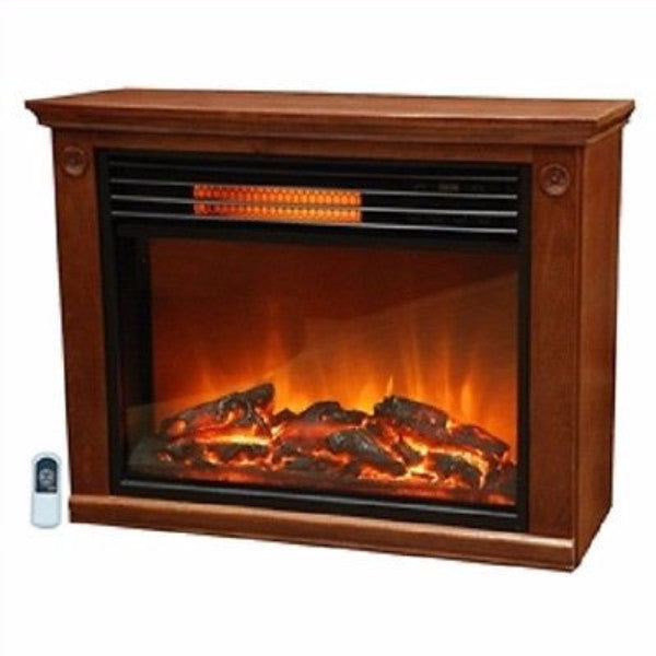 Infrared Electric Fireplace Space Heater 1500-watt Medium Oak Finish - YourGardenStop