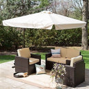 8-Ft Square Patio Umbrella with Beige Canopy Shade - YourGardenStop