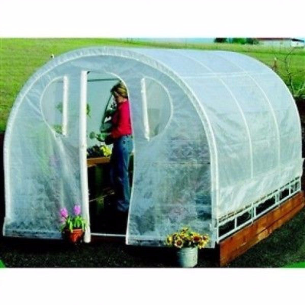 Poly-tunnel Hoop House Style Greenhouse (6' x 8') - YourGardenStop