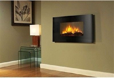 Modern Wall Mounted Electric Fireplace Heater with Remote Control - YourGardenStop
