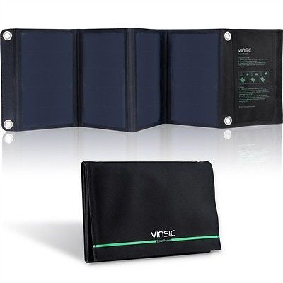 22-Watt Folding Solar Panel Battery Charger - YourGardenStop