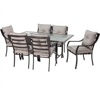 7-Piece Patio Furniture Metal Dining Set with Cushions - YourGardenStop