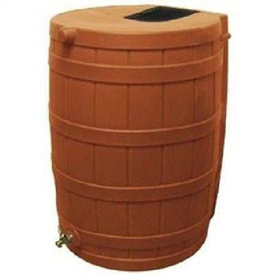 Terra Cotta 50-Gallon Rain Wizard Rain Barrel - YourGardenStop