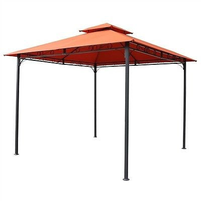 Terracotta 10ft x 10Ft All Weather Canopy w/Black Frame - YourGardenStop