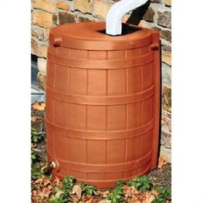 Terra Cotta 50 Gallon Rain Wizard Rain Barrel - YourGardenStop