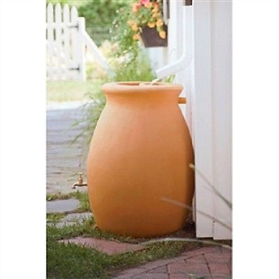 50 Gallon Rainwater Urn Style Rain Barrel with Spigot - YourGardenStop