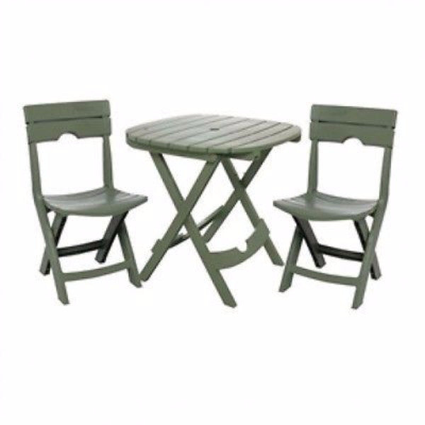 3-Piece Fast Fold Outdoor Furniture Bistro Set - YourGardenStop