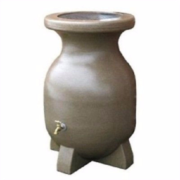 55-Gallon Rain Barrel in Sandstone Finish - YourGardenStop