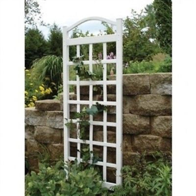 76-inch High Garden Trellis in White Vinyl - YourGardenStop